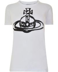Vivienne Westwood Anglomania - Brushstroke Orb T Shirt - Lyst