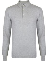 French Connection - Long Sleeved Polo Shirt - Lyst