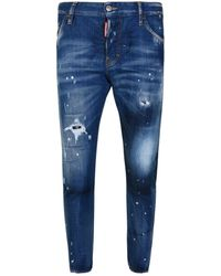 DSquared² - Sexy Twist Distressed Skinny Jeans - Lyst