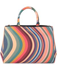 Paul Smith - Top Handle Tote - Lyst