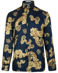 Versace - Baroque Long Sleeved Shirt - Lyst