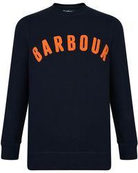 Barbour - Navy Prep Logo Sweatshirt - Lyst
