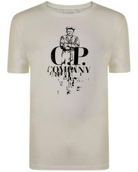 C P Company - Sailor Logo T Shirt - Lyst