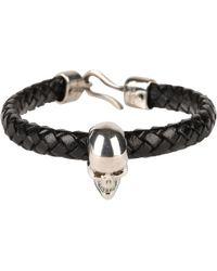 Alexander McQueen - Skull Leather Bracelet - Lyst