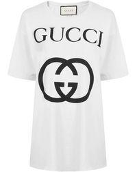 Gucci - Oversized Interlocking G T Shirt - Lyst