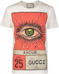 0004259e3 Gucci L'aveugle Par Amour Slogan T-shirt for Men - Lyst