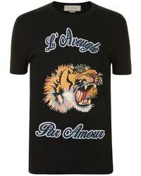 9e0690246 Gucci L'aveugle Par Amour T-shirt in White for Men - Lyst