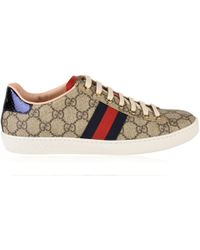 Gucci - Ace Gg Supreme Trainers - Lyst