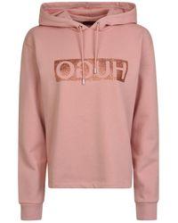 HUGO - Nenita Hooded Sweatshirt - Lyst