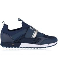 Armani Jeans - Velcro Runner Trainers - Lyst