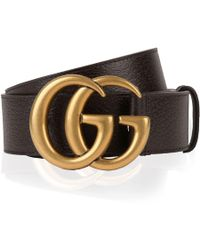 94970b994 Lyst - Gucci 40mm Gg Marmont Web & Leather Belt