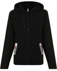 Moschino - Logo Zipped Hooded Sweatshirt - Lyst