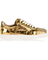 5eb2c93d1ae Lyst - Christian Louboutin Flamingirl Printed Leather & Patent ...