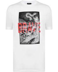 DIESEL - Brave Snake Short Sleeved T Shirt - Lyst