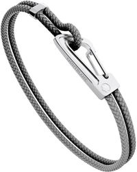 Montblanc - Woven Leather Bracelet - Lyst