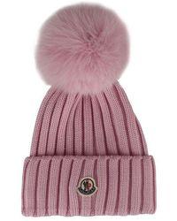 Moncler - Pompom Hat - Lyst