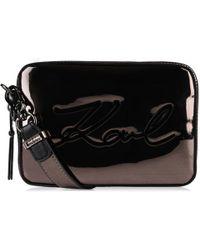 Karl Lagerfeld - Signature Gloss Camera Bag - Lyst