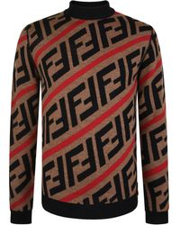 Fendi - Ff Stripe Knit Jumper - Lyst