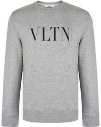 Valentino - Vltn Print Crew Neck Sweatshirt - Lyst