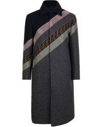 Fendi - Tonal Panel Striped Coat - Lyst