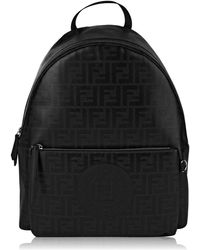 Fendi Butterfly Leather   Tech-twill Backpack in Black for Men - Lyst 7d4323d69dbc3