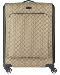 Gucci - Gg Supreme Wheeled Suitcase - Lyst