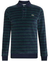 Lacoste - Long Sleeve Stripe Polo - Lyst