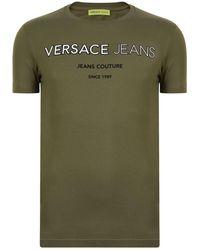 Versace Jeans - Rubber Logo Short Sleeved T Shirt - Lyst