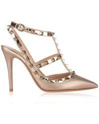 16bcec60d017 Valentino - Rockstud Ankle Strap Heels - Lyst