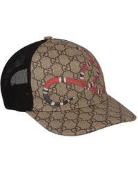 e9c06bb8a90 Gucci Gatto Gg Supreme Canvas Baseball Cap in Brown for Men - Lyst