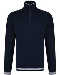 BOSS Athleisure - Neck Knitted Sweatshirt - Lyst