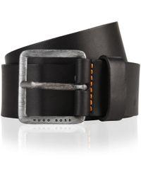 BOSS by Hugo Boss - Leather Jeeko Belt Black - Lyst