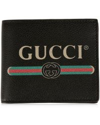 Gucci - Print Leather Coin Wallet - Lyst