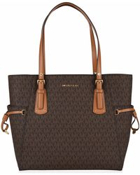 c0a0ca3115 MICHAEL Michael Kors - Grained Leather Voyager Tote Bag - Lyst
