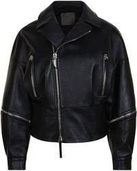 Giuseppe Zanotti - Leather Zip Jacket - Lyst