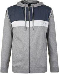 BOSS by Hugo Boss - Panel Tonal Zip Sweatshirt - Lyst