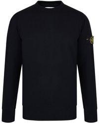 Stone Island Wool Badge Sweater - Blue