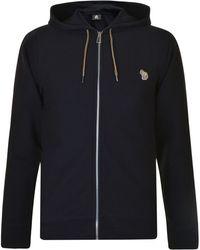 PS by Paul Smith - Logo Hooded Zip Sweatshirt - Lyst