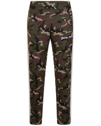 Palm Angels - Stripe Panel Camouflage Jogging Bottoms - Lyst