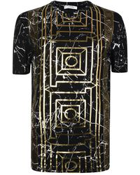 2d6f6b2b851 Lyst - Versace Greca Cotton T-shirt in Red for Men