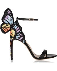 Sophia Webster - Chiara Embroidered Satin And Leather Sandals - Lyst