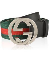 Gucci - Interlocked Gg Belt - Lyst