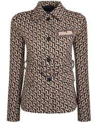Prada - Argyle Logo Jacket - Lyst
