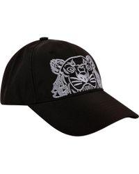 c19602f1b8c Kenzo Black Logo Print Cap in Black for Men - Lyst