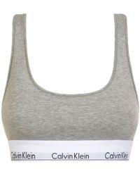 Calvin Klein - Logo Bralette - Lyst