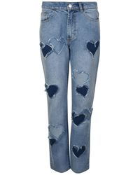 Ashley Williams - Melrose Distressed Heart Jeans - Lyst