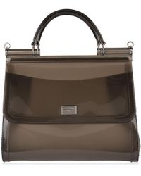 224a671c4d Dolce   Gabbana - Sicily Semi Transparent Rubber Bag - Lyst