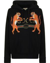 Gucci - Tiger Logo Hooded Sweatshirt - Lyst