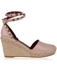 Valentino - Rockstud Double Wedge - Lyst