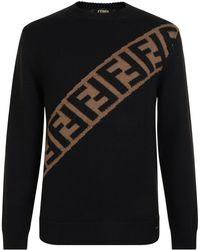 Fendi - Block Stripe Knitted Jumper - Lyst